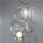 Clear Globe Candle Holder