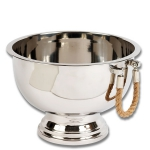 Pedestal Punch Bowl with Rope