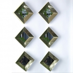 Reflections Square Gold Mirror Set