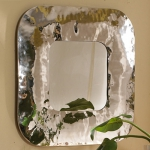 Hammered Square Mirror