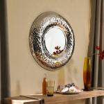 Hammered Round Mirror